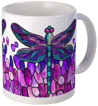 tazas de libelulas